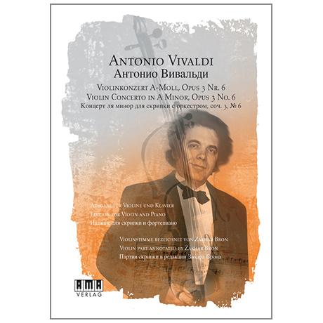 Vivaldi, A.: Violinkonzert Nr. 6 Op. 3 a-Moll (+DVD)