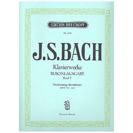 Bach, J. S.: Dreistimmige Inventionen BWV 787-801