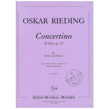 Rieding, O.: Concertino D-Dur op. 25 (+CD)