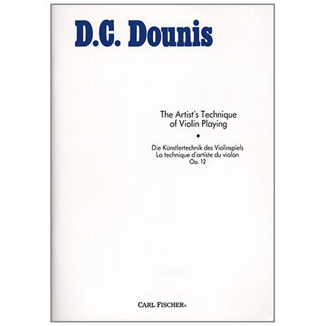 Dounis, D.C.: Artist's Technique of Violinplaying Op.12