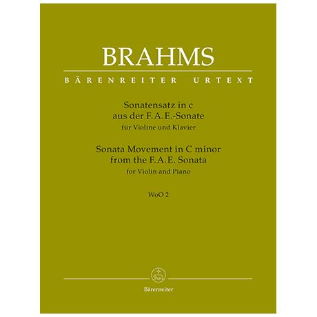 Brahms, J.: Sonatensatz in c-Moll aus der F.A.E.-Sonate WoO 2