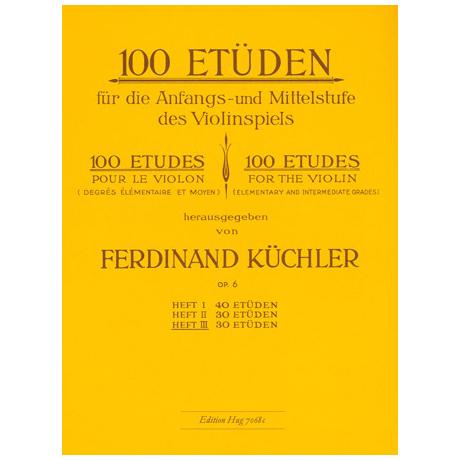 Küchler, F.: 100 Etüden op.6 Band 3