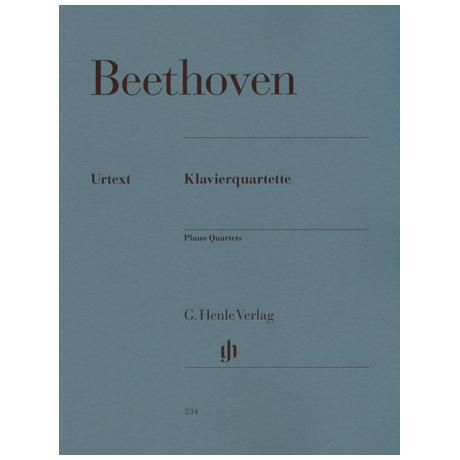 Beethoven, L. v.: Klavierquartette Es-Dur Op. 16, Es-, D-, C-Dur WoO 36/1-3 Urtext