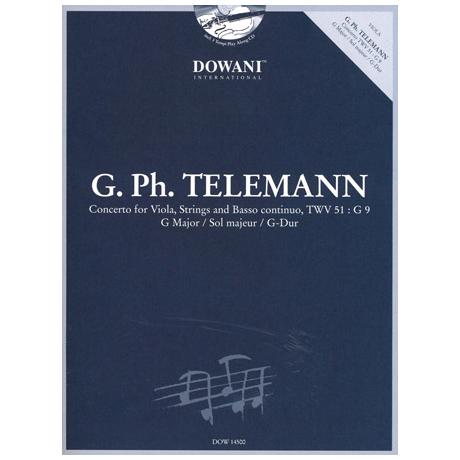 Telemann, G.P.: Concerto G-Dur TWV51:G9 (+CD)