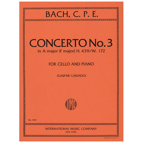 Bach, C.Ph.E.: Konzert Nr. 3 in A-Dur