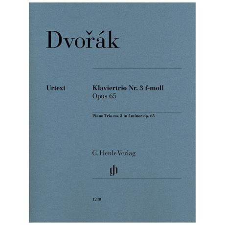 Dvořák, A.: Klaviertrio Nr. 3 Op. 65 f-Moll