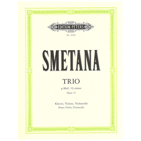 Smetana, F.: Klaviertrio g-moll, op. 15