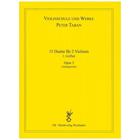Taban, P.: Op. 3: 15 Duette für 2 Violinen Band 2