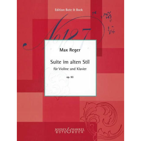 Reger, M.: Suite im alten Stil Op.93