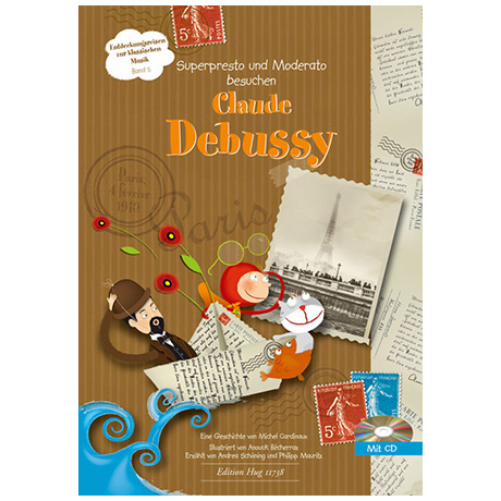 Superpresto und Moderato besuchen... Band 5 - Claude Debussy (+CD)