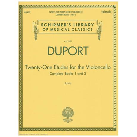 Duport: 21 Etudes Band 1 & 2
