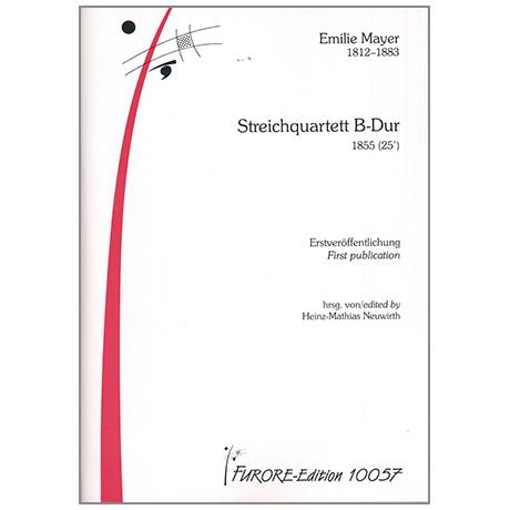 Mayer, E.: Streichquartett B-Dur 1855 (25')