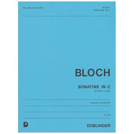 Bloch, W.: Sonatine in C-Dur