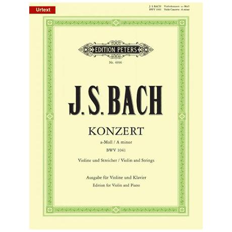 Bach, J. S.: Violinkonzert Nr. 1 BWV 1041 a-Moll (Oistrach)