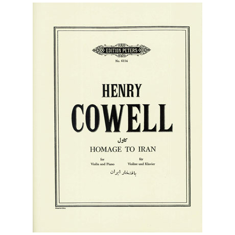 Cowell, H.: Homage to Iran