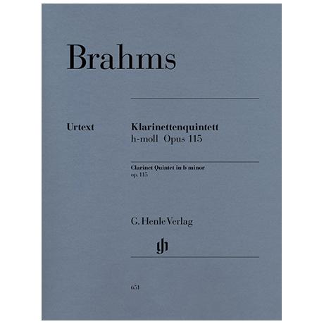 Brahms, J.: Quintett h-Moll Op. 115
