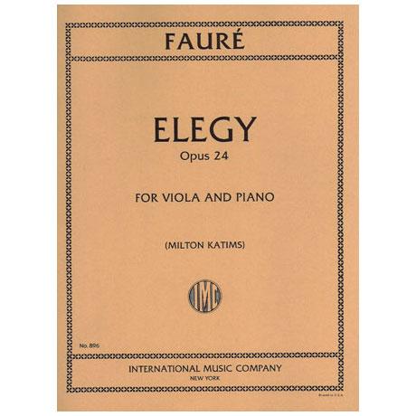 Faure, G.: Elegie Op. 24