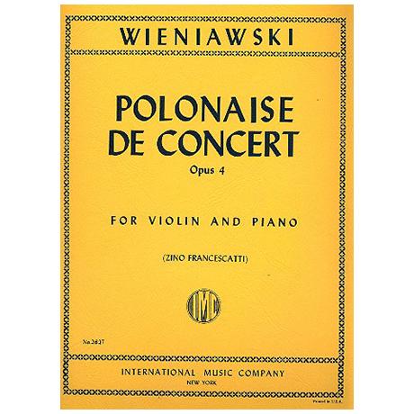 Wieniawski, H.: Polonaise de Concert Op. 4 D-Dur