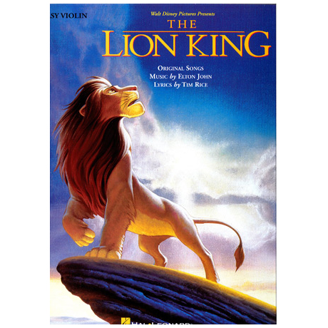 The Lion King: Songbook for easy Violin