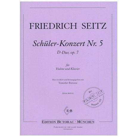 Seitz, F.: Schülerkonzert Nr. 5 D-Dur op. 7 (+CD)