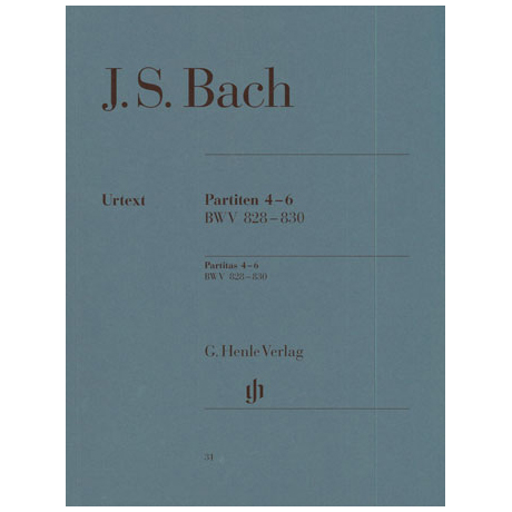 Bach, J. S.: Partiten 4-6 D-Dur, G-Dur, e-Moll BWV 828-830