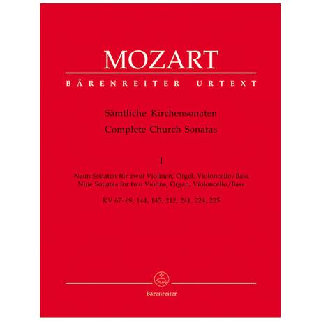 Mozart, W.A.: Sämtliche Kirchensonaten - Heft 1
