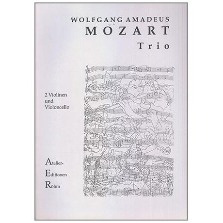 Mozart, W.A.: Streichtrio: Sonate für Klavier und Violine in C-Dur (KV 403)