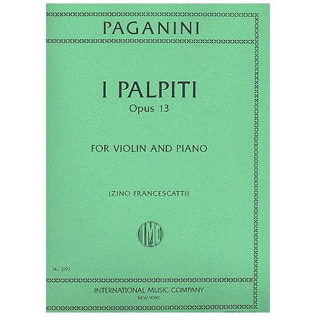 Paganini, N.: I Palpiti Op. 13