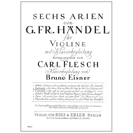 Händel, G.F.: 6 Arien Band 2: Pastorale