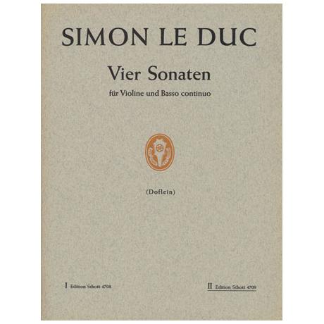 Leduc, S.: 4 Sonaten Band 2