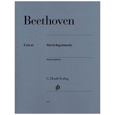 Beethoven, L. v.: Streichquintette Op. 4, 29, 104, 137 Urtext