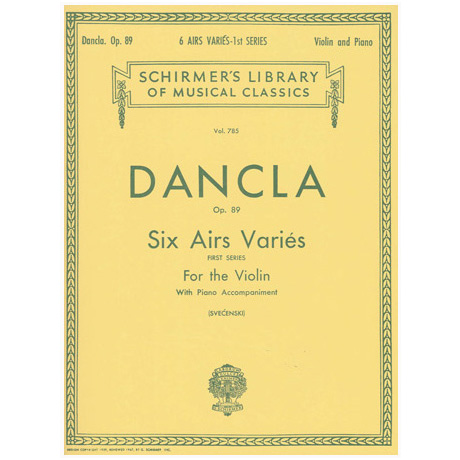 Dancla, C.: 6 Airs Variés op. 89