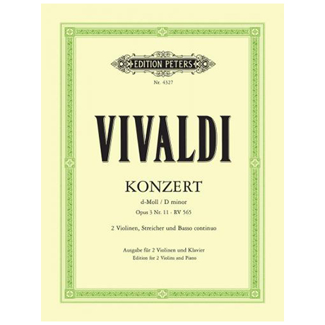 Vivaldi, A.: Concerto grosso Op. 3/11, RV 565 d-Moll