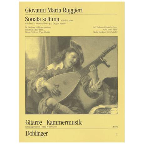 Ruggieri, G.M.: Sonata settima a-Moll Op.3