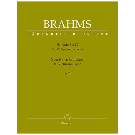 Brahms, J.: Sonate Op.78 G-Dur