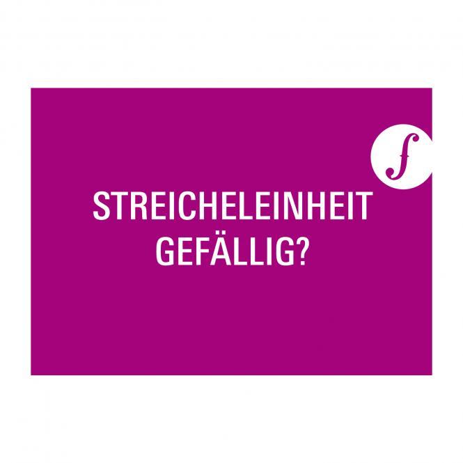 Postkarte STREICHELEINHEIT GEFÄLLIG?