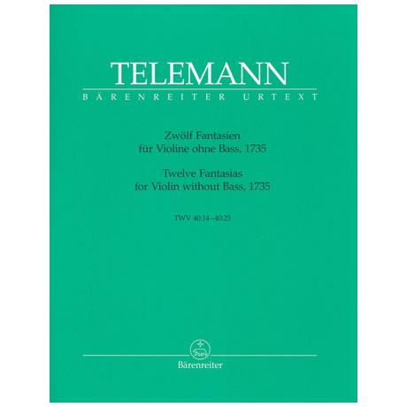 Telemann, G.P.: Zwölf Fantasien TWV 40:14 - 40:25