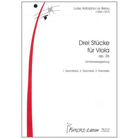 Le Beau, L.A.: 3 Stücke op.26