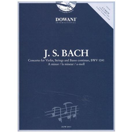 Bach, J. S.: Konzert BWV 1041 a-Moll (+CD)