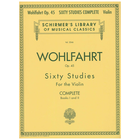 Wohlfahrt, F.: Sixty Studies op.45 Complete