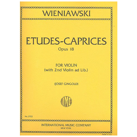 Wieniawski, H.: 6 Etudes-Caprices Op.18