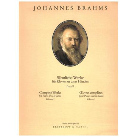 Brahms, J.: Sämtliche Werke Band I: Sonaten und Variationen
