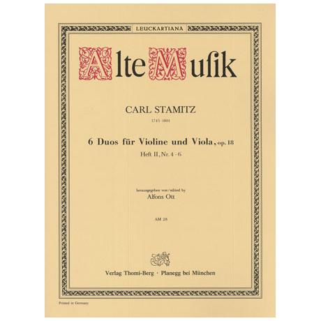 Stamitz, C.: 6 Duos Op.18 Band 2 (Nr.4-6)