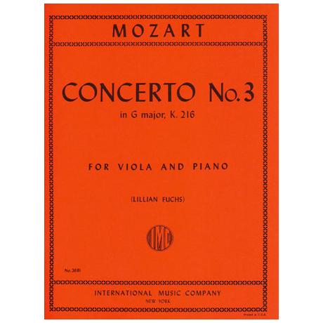 Mozart, W.A.: Violinkonzert in G-Dur KV 216