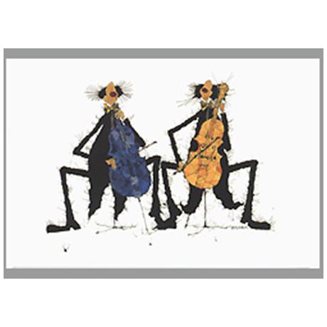 Kunst-Postkarte 2 Celli