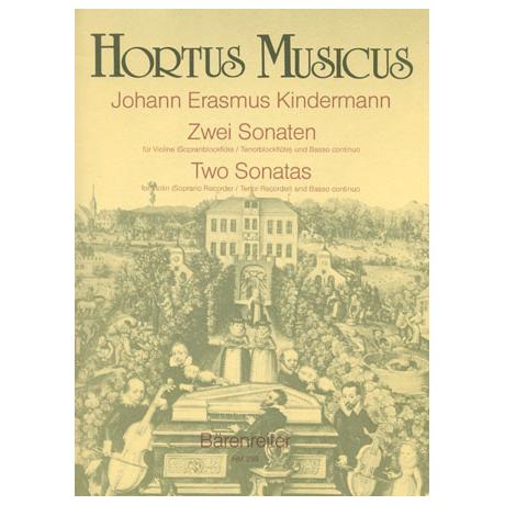 Kindermann, J. E.: Zwei Sonaten