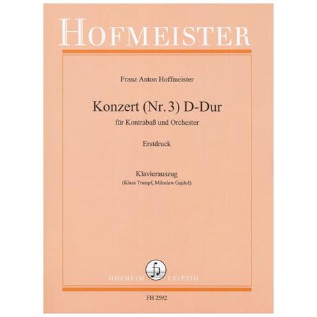 Hoffmeister, F.A.: Kontrabasskonzert D-Dur Nr.3