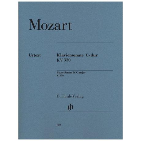 Mozart, W. A.: Klaviersonate C-Dur KV 330 (300h)