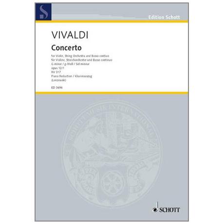 Vivaldi, A.: Konzert g-moll Op.12 Nr.1