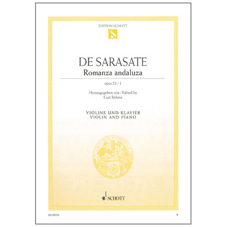 Sarasate, Pablo de: Romanza Andaluza op.22 Nr.1